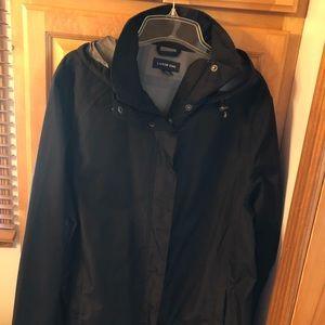 NWOT Lands End Lightweight Hooded Rain Jacket
